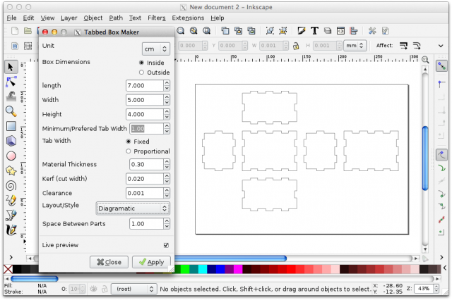inkscape and the lasercutter