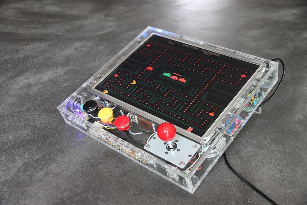 Retro Gaming Arcade Console With Raspberry Pi Retropie
