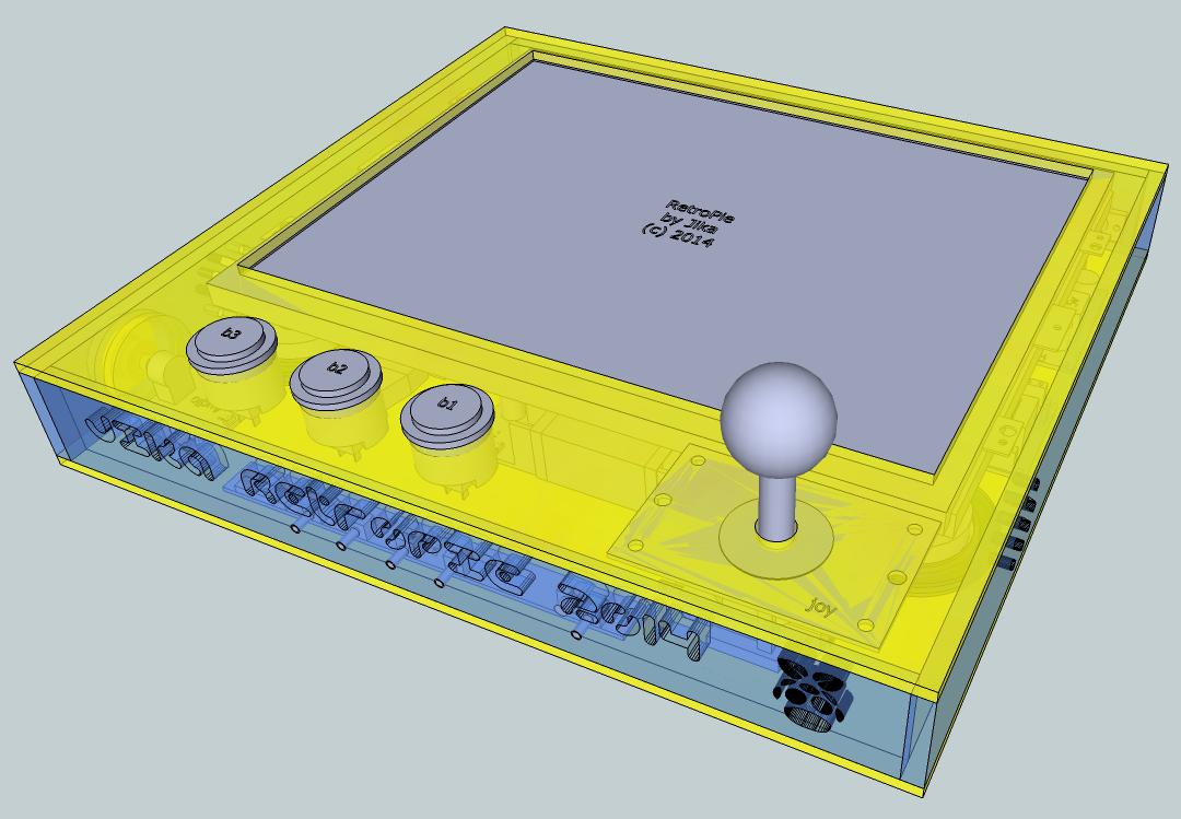 Retro Gaming Arcade Console with Raspberry Pi (RetroPie