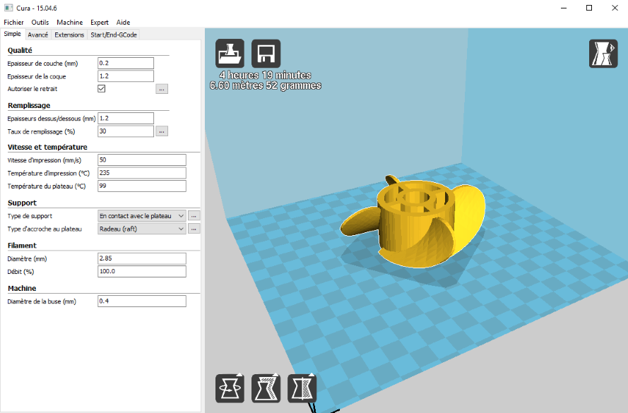 Use of Cura 15 4 6 (32 bit), 2 1 3 (64 bit) and 2 4 0 | wikimal