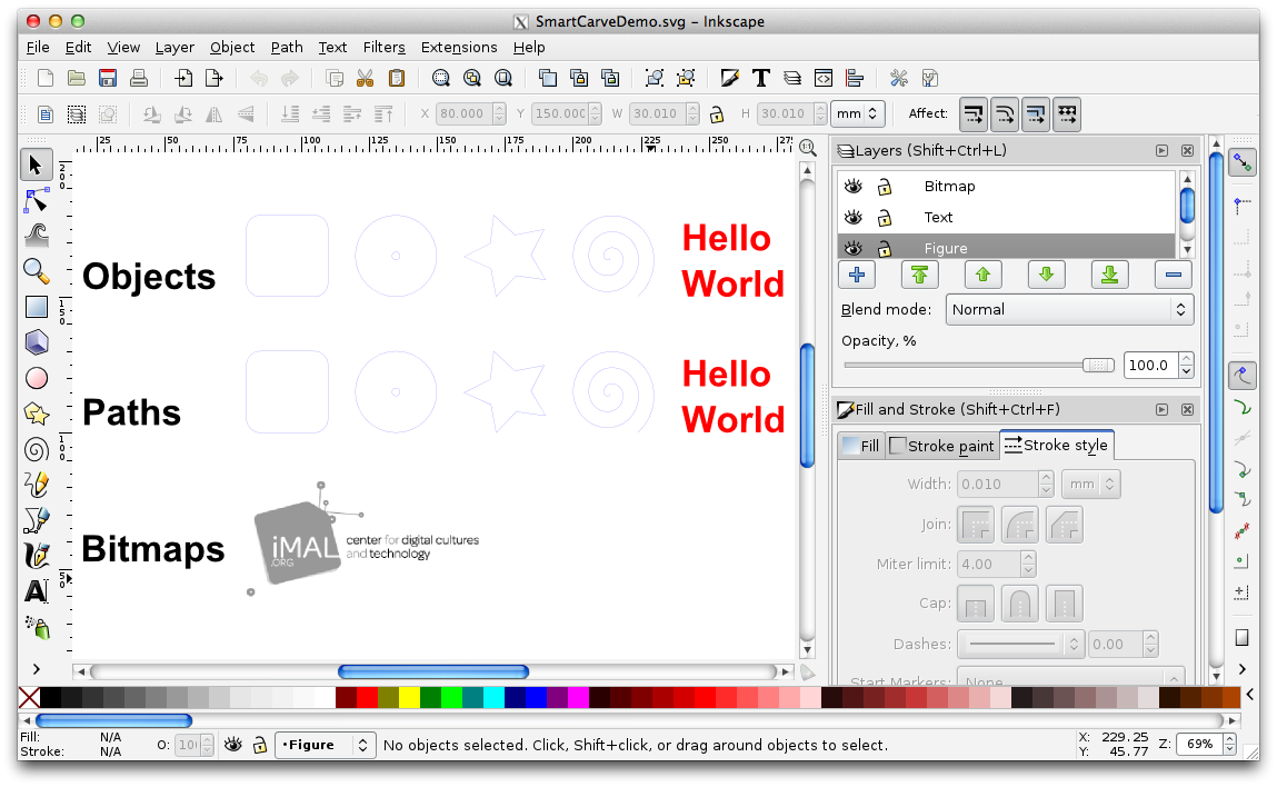 Inkscape and the Lasercutter | wikimal